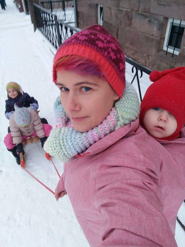 Winter babywearing coat